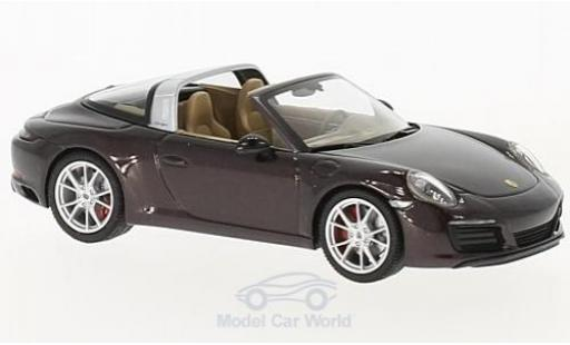Porsche 991 Targa 1/43 Herpa 911  4S metallise brown diecast model cars