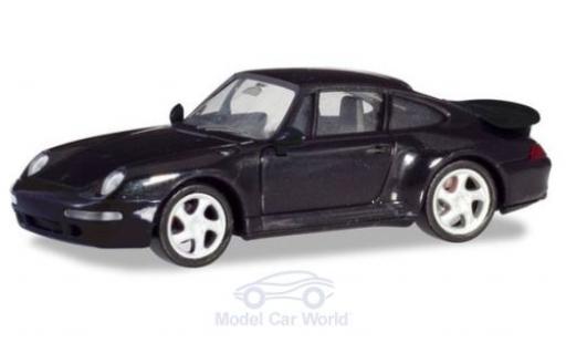 Porsche 911 1/87 Herpa (993) Turbo noire miniature