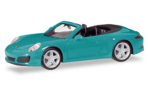 Porsche 911 1/87 Herpa Carrera 2 Cabriolet bleue miniature