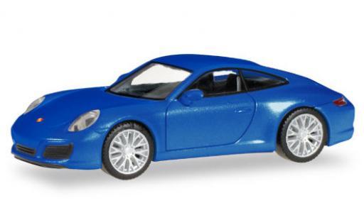 Porsche 911 1/87 Herpa Carrera 2S metallise bleue miniature