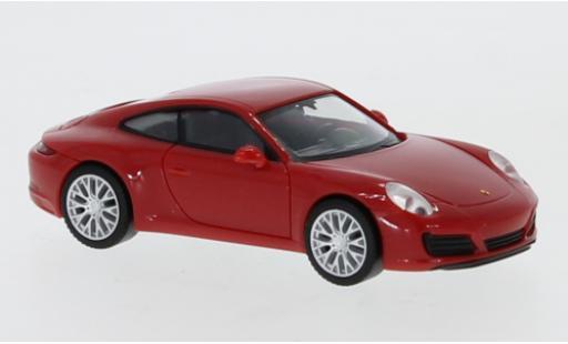 Porsche 992 4S 1/87 Herpa 911 Carrera  red diecast model cars