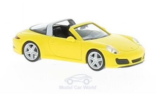 Porsche 911 Targa 1/87 Herpa 4 jaune miniature