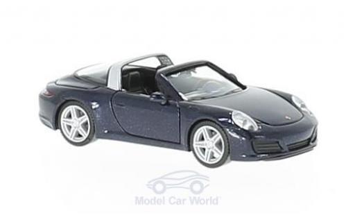 Porsche 911 1/87 Herpa Targa 4 métallisé bleue miniature
