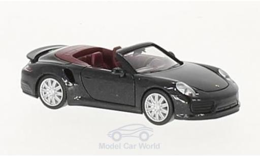 Porsche 911 Turbo 1/87 Herpa Cabrio metallise black