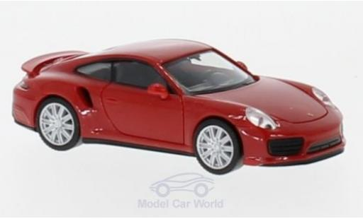 Porsche 911 Turbo 1/87 Herpa Turbo rouge miniature