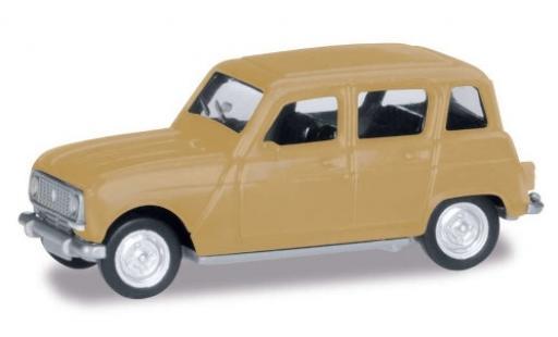 Renault 4 1/87 Herpa R beige miniature