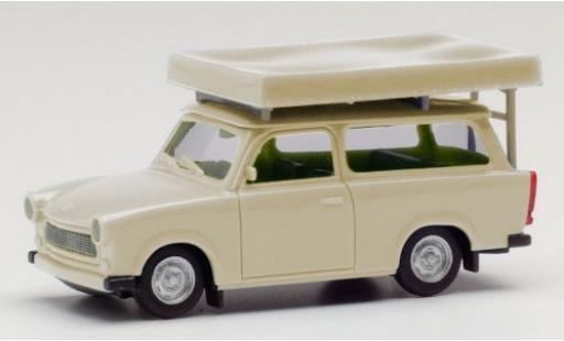 Trabant 601 1/87 Herpa Universal beige avec Tente sur toit dans le état de conduite miniature