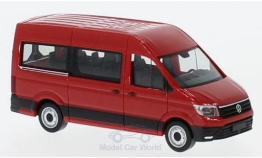 Volkswagen Crafter 1/87 Herpa Bus HD red diecast model cars