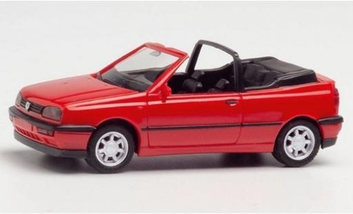Volkswagen Golf 1/87 Herpa III Cabriolet rouge miniature