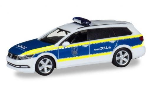Volkswagen Passat 1/87 Herpa Variant GTE Zoll miniature