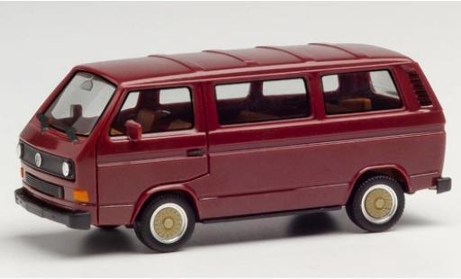 Volkswagen T3 1/87 Herpa Bus rouge avec BBS-jantes miniature