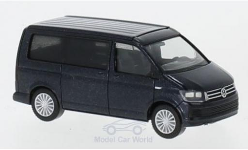 Volkswagen T6 1/87 Herpa California metallise bleue miniature