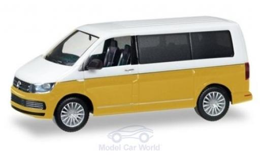 Volkswagen T6 1/87 Herpa Multivan Bicolor white/metallic yellow diecast