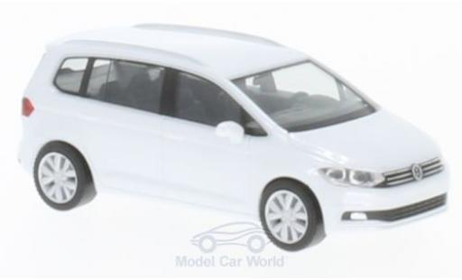 Volkswagen Touran 1/87 Herpa metallise white diecast model cars