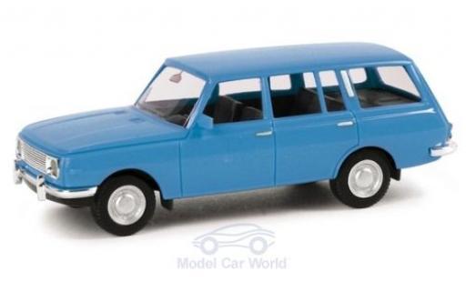 Wartburg 353 1/87 Herpa Tourist bleue 1966 miniature