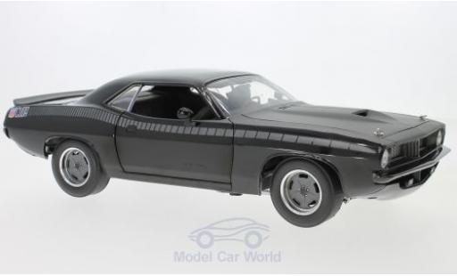 Plymouth Barracuda 1/18 Highway 61 noire/grise 2Fast 2Furious miniature