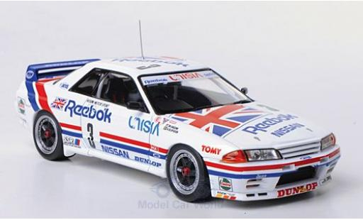 Nissan Skyline 1/43 HPI GT-R (R32) No.3 Hasemi Motor Sport Reebok JTCC Tukuba 1991 M.Hasemi/A.Olofsson modellautos