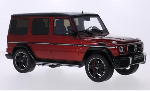 Mercedes Classe G 1/18 I GT Spirit G63 AMG Crazy Color Edition metallise rouge/noire miniature