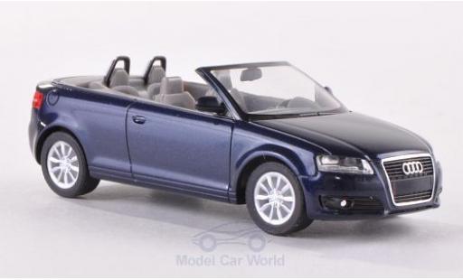Audi A3 1/87 Herpa Cabriolet (8P) metallic-dunkelbleue 2008 helles Interieur miniature