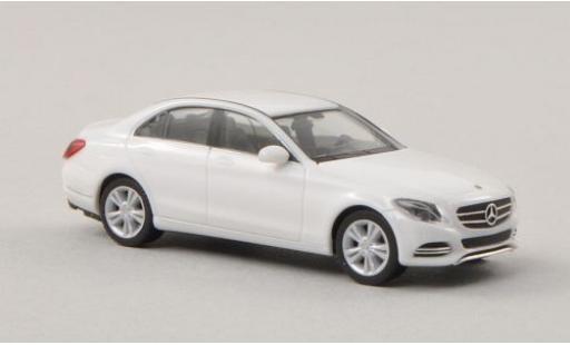 Mercedes Classe C 1/87 I Herpa (W205) blanche 2014 miniature