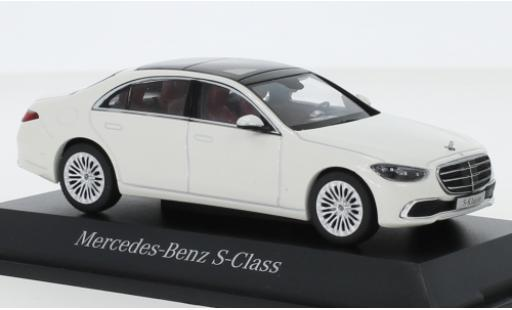 Mercedes Classe S 1/43 I Herpa (V223) metallise white 2020 diecast model cars