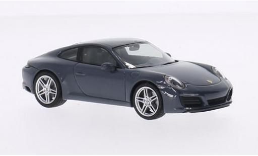 Porsche 991 1/43 I Herpa 911  Carrera Coupe grise 2015