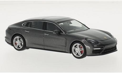 Porsche Panamera Turbo 1/43 I Herpa Executive metallise grise 2016 miniature