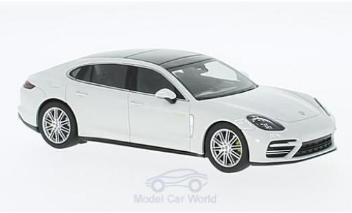 Porsche Panamera e-hybrid 1/43 Herpa Turbo S Executive blanco 2016 coche miniatura
