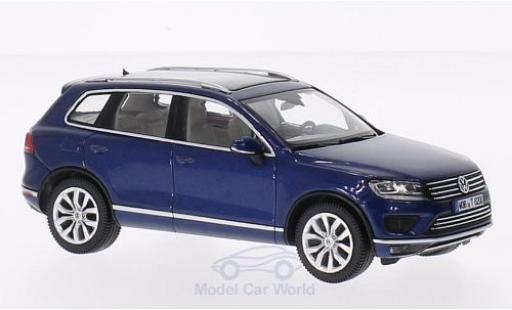 Volkswagen Touareg 1/43 Herpa metallic-bleue 2015 miniature