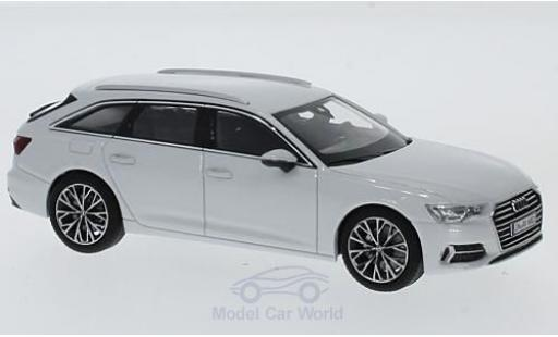 Audi A6 1/43 iScale Avant white 2018 diecast