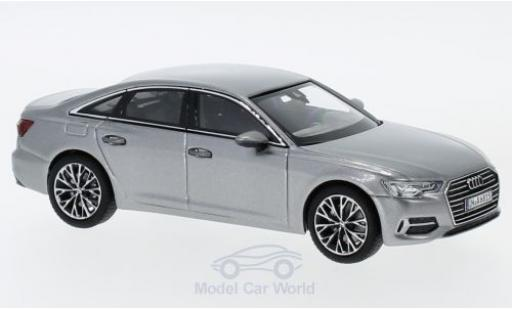 Audi A6 1/43 iScale Limousine metallic grey 2018 diecast