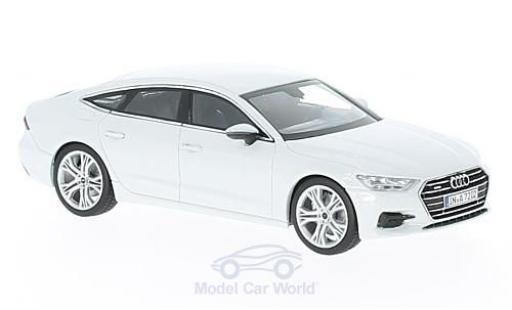 Audi A7 1/43 iScale Sportback blanche 2018 miniature