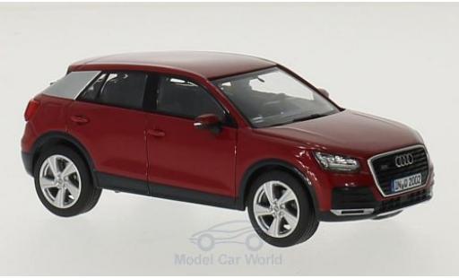 Audi Q2 1/43 iScale rouge miniature