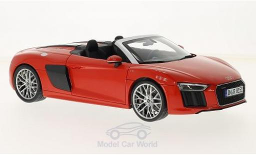 Audi R8 1/18 iScale Spyder V10 red 2016 ohne Vitrine diecast model cars
