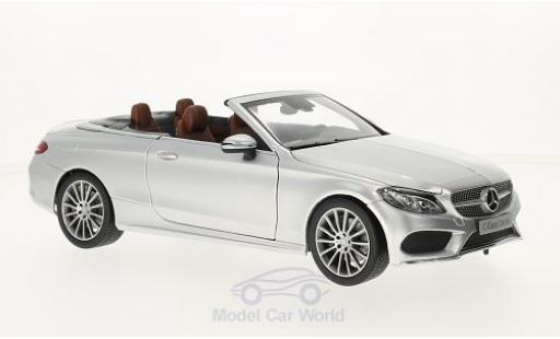 Mercedes Classe C 1/18 iScale (A205) Cabriolet grise Softtop liegt Bei miniature