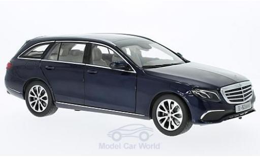 Mercedes Classe E 1/18 iScale (S213) métallisé bleue miniature