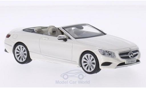 Mercedes Classe S 1/43 iScale Cabriolet metallise white diecast model cars