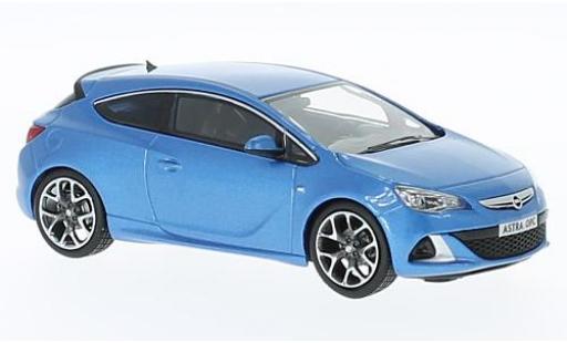 Opel Astra 1/43 I iScale J OPC metallise bleue 2012 miniature