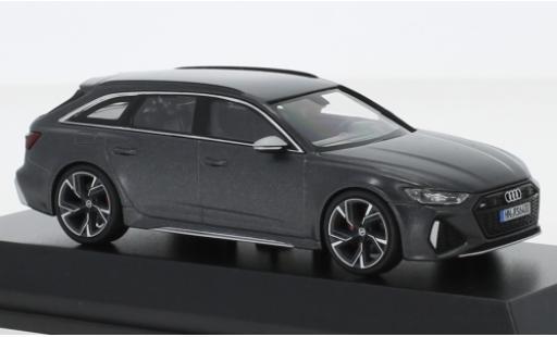 Audi RS6 1/43 Minichamps Avant (C8) matt-grise 2019 miniature