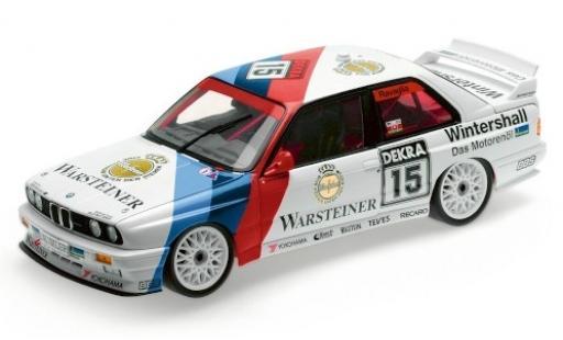 Bmw M3 1/18 Minichamps (E30) No.15 M Team Schnitzer Warsteiner Hockenheim 1992 R.Ravaglia modellino in miniatura