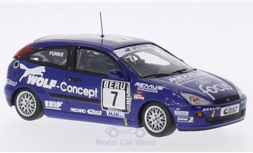 Ford Focus 1/43 Minichamps DTC No.7 Wolf-Concept DTC M.Funke diecast model cars