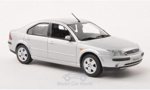 Ford Mondeo 1/43 I Minichamps MKIII grise 2001 Stufenheck miniature