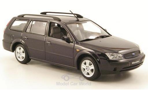 Ford Mondeo 1/43 Minichamps MKIII Turnier bleue 2001 miniature