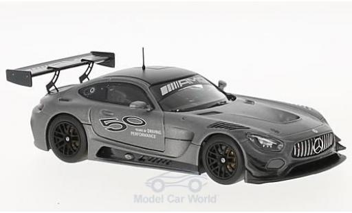 Mercedes AMG GT 1/43 Minichamps 3 metallise grey 50 Jahre AMG diecast model cars