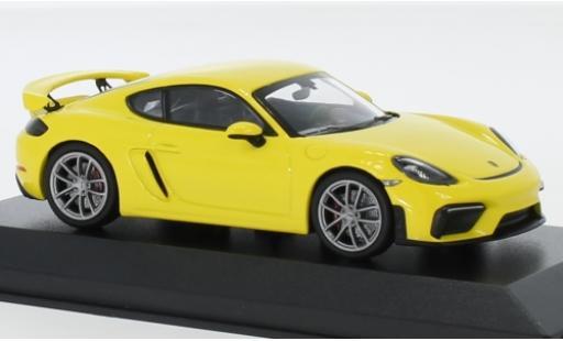 Porsche Cayman 1/43 Minichamps 718 (982) GT4 Spectrum Edition jaune 2020 miniature