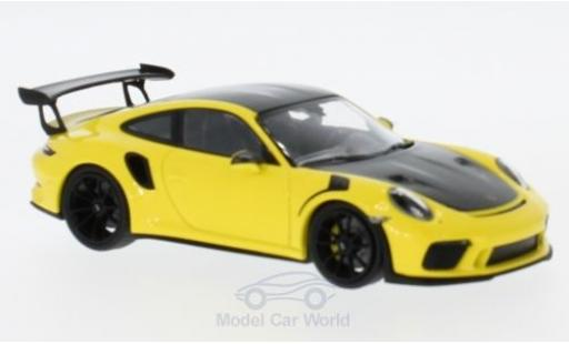 Porsche 991 GT3 RS 1/43 Minichamps 911  yellow 2018 mit Weissach-Paket diecast model cars