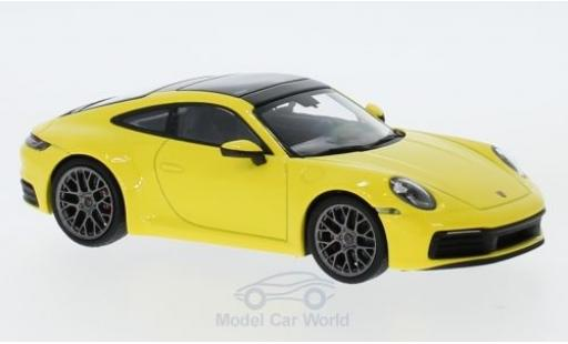 Porsche 992 4S 1/43 Minichamps 911  Carrera yellow 2019 diecast model cars