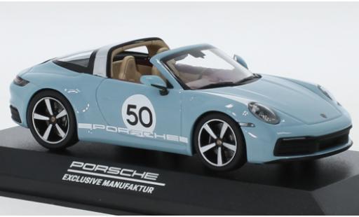 Porsche 992 Targa 1/43 I Minichamps 911  4S blue/Dekor No.50 Heritage Design Edition