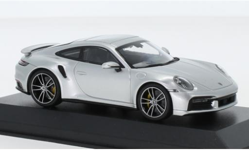 Porsche 992 Turbo s 1/43 I Minichamps 911  Turbo S grey 2020 diecast model cars