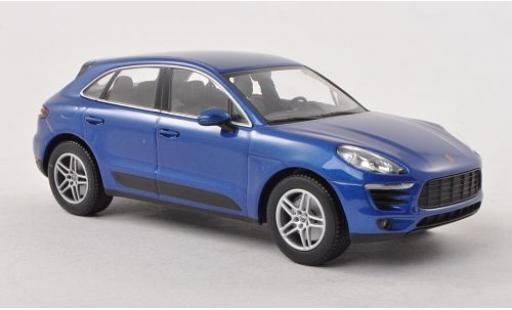 Porsche Macan S 1/43 I Minichamps metallise bleue 2013 miniature